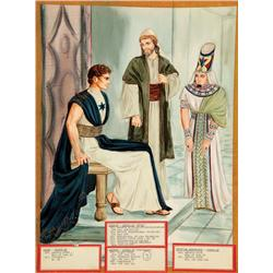 Costume sketch for Gregory Peck,  James Robertson Justice and George Zucco from David and Bathsheba