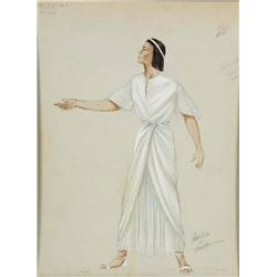 Adele Balkan costume sketch for Michael Wilding from The Egyptian