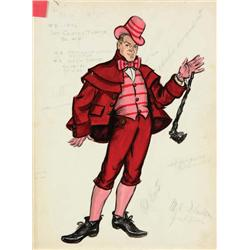Costume sketch for Bob Hope from The Seven Little Foys
