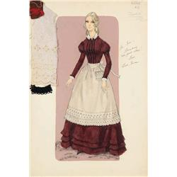 Bill Thomas costume sketch for Marian McCargo from The Undefeated