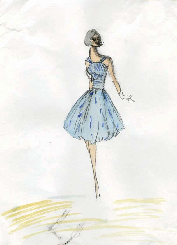 edith head costume design sketches for lucille ball