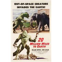 20 Million Miles to Earth one-sheet poster