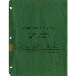 The Little Foxes Final Script with annotations