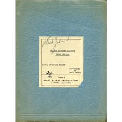 20,000 Leagues Under the Sea final shooting script