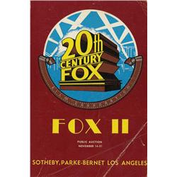 Two Sotheby, Parke-Bernet auction catalogs for 20th Century-Fox movie memorabilia