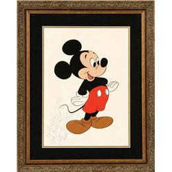 Walt Disney signed Mickey Mouse artwork