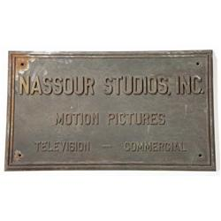 Nassour Studio bronze wall plaque