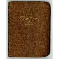 Edmund Goulding address book with addresses of Ira Gershwin, Samuel Goldwyn, Cary Grant & others