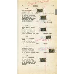 Henry Wilcoxon's personal bound annotated shooting script for Cleopatra with actual film frames