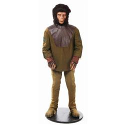 Chimpanzee complete costume and display from Planet of the Apes