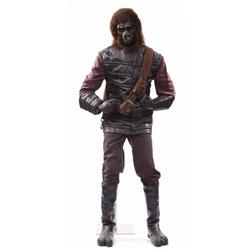 Hero gorilla costume and display from Planet of the Apes