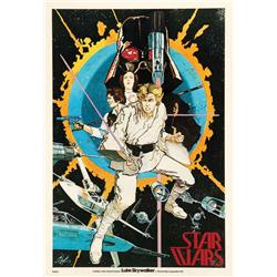 Rare Howard Chaykin pre-production poster for Star Wars