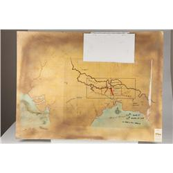 Screen-used and camera-ready maps from Indiana Jones and the Temple of Doom