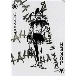 "Heath Ledger ""Joker"" playing card from The Dark Knight"