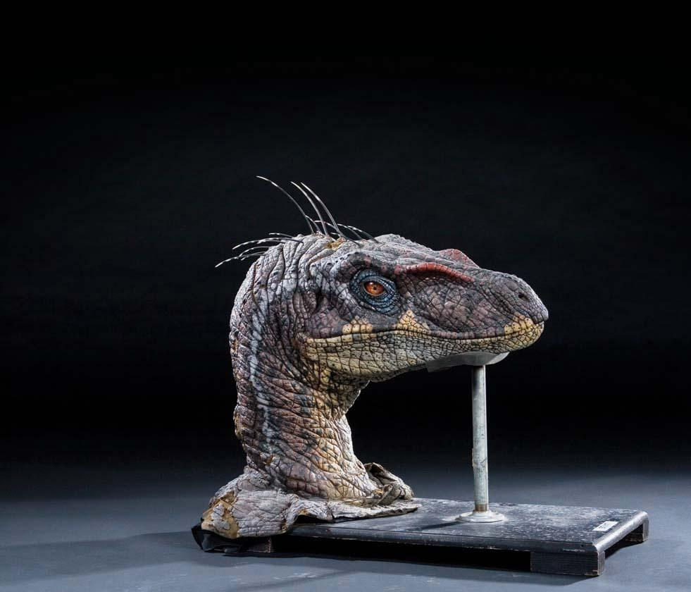 Screen Used Velociraptor Insert Head From Jurassic Park Iii