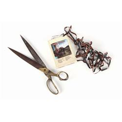 "Andrew Bryniarski ""Leatherface"" scissors from The Texas Chainsaw Massacre: The Beginning"