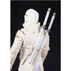 Storm Shadow combat costume with 2 hero katana fighting swords from G.I. Joe: The Rise of Cobra