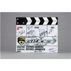 Original G.I. Joe: The Rise of Cobra production clapboard signed by various members of the cast