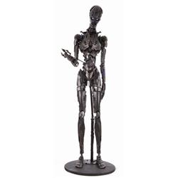 "Screen-used full-scale T-X ""Terminatrix"" endoskeleton from Terminator 3: Rise of the Machines"