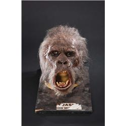 Pair of screen-used animatronic grey gorilla heads from Congo
