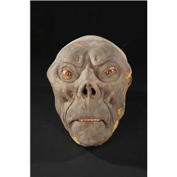 Pair of screen-used superstunt Morlock heads from The Time Machine