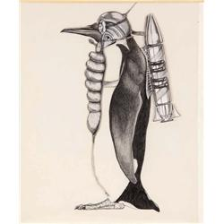 Concept artwork for The Penguin and Penguin henchman from Batman Returns