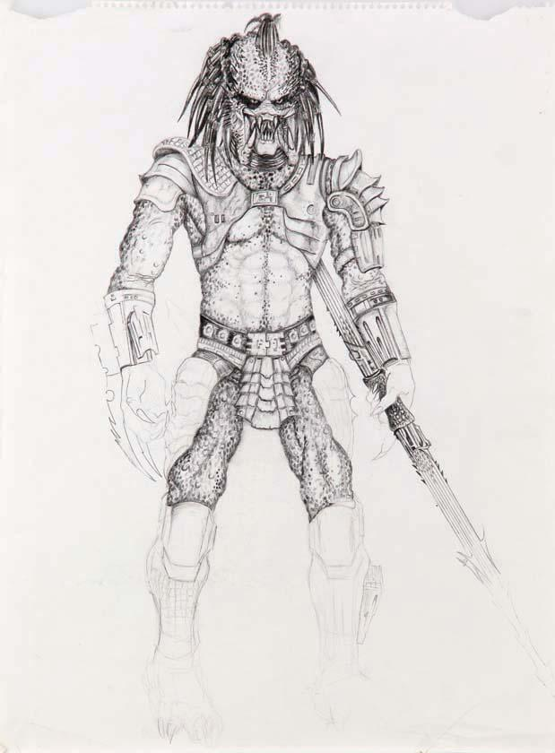Image 1 Predator Full Body Drawing From