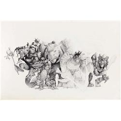 Original concept art for The Gorgonites from Small Soldiers