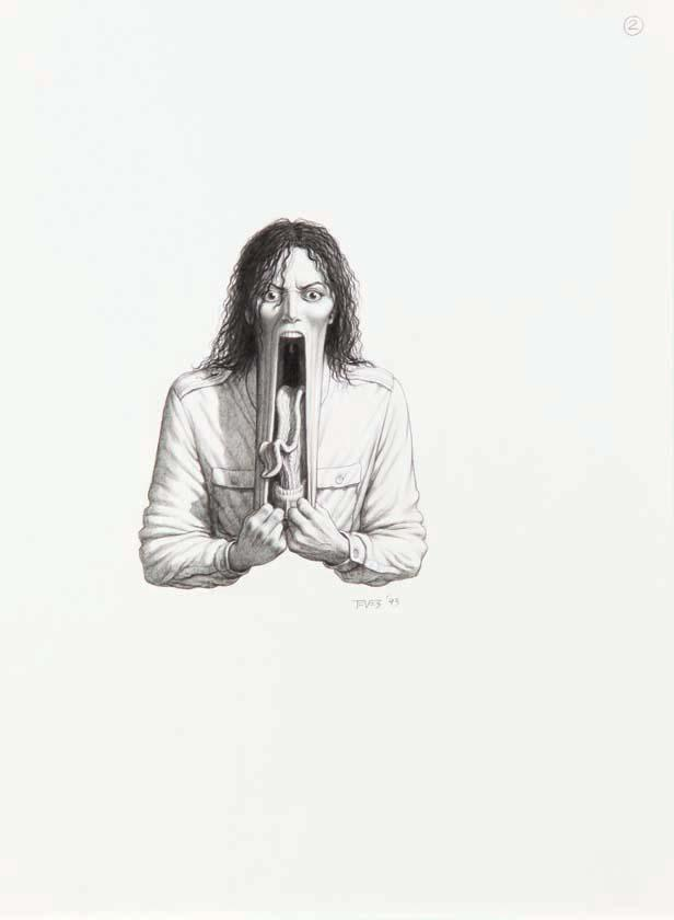 Group of 20 drawings from Michael Jackson's Ghosts