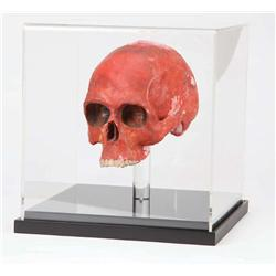 """Ronald Lacey """"Major Arnold Toht"""" prop melting skull from Raiders of the Lost Ark"""