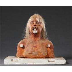 Aged Carol Anne bust and extra skull armature with hair from Poltergeist II: The Other Side