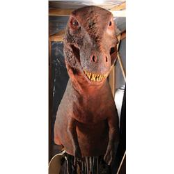 Jon Berg-designed wearable T-Rex puppet from Universal ride film