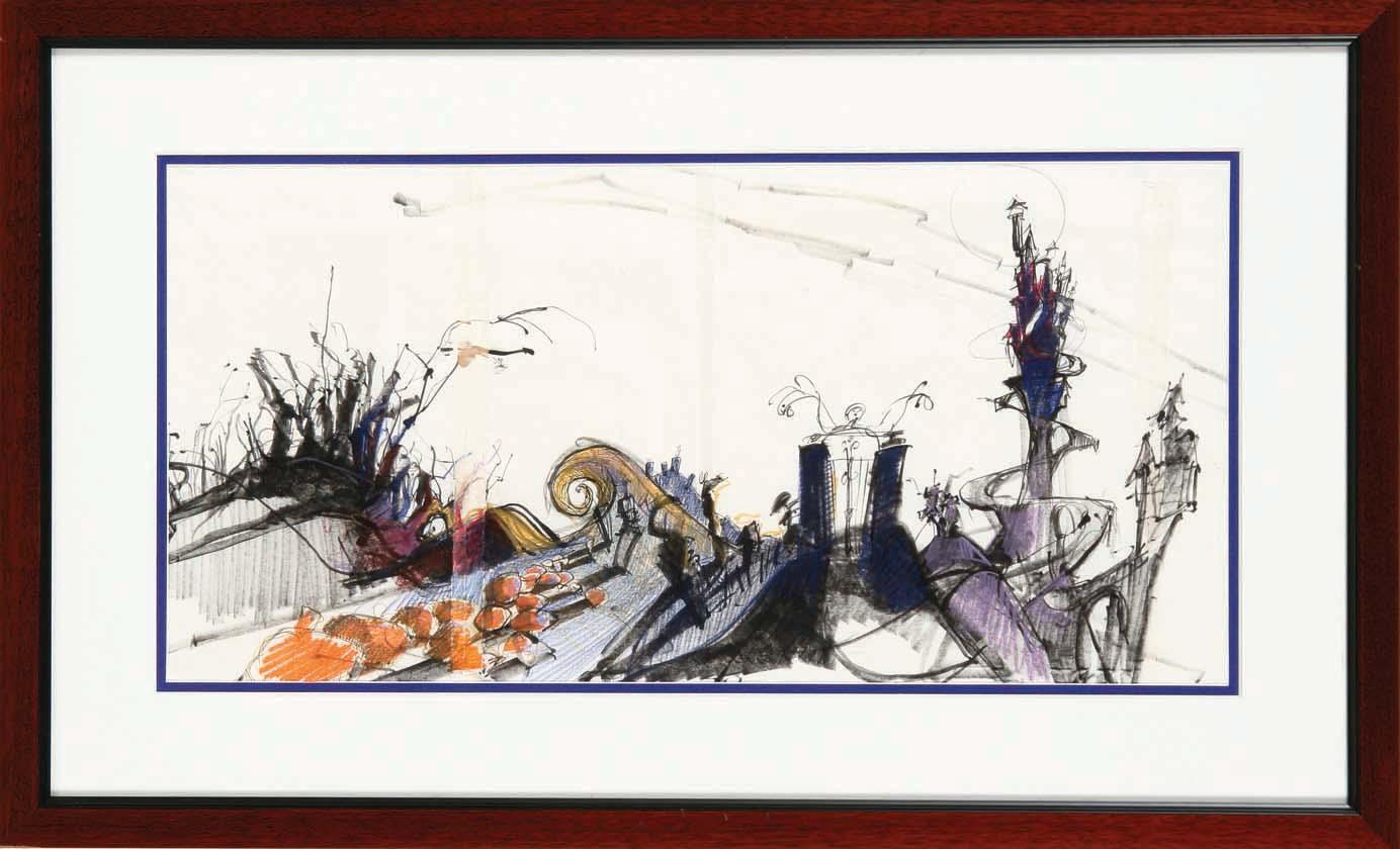 Original concept artwork for Halloween Town from The Nightmare ...