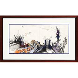 Original concept artwork for Halloween Town from The Nightmare Before Christmas