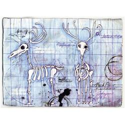 "Dr. Finkelstein's reindeer blueprint ""plans"" from The Nightmare Before Christmas"