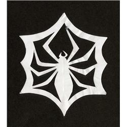 Jack Skellington paper cut-out spider web snowflake from The Nightmare Before Christmas