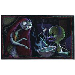 Sally and Dr. Finkelstein concept artwork from The Nightmare Before Christmas