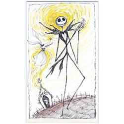 Jack Skellington and Zero concept artwork from The Nightmare Before Christmas