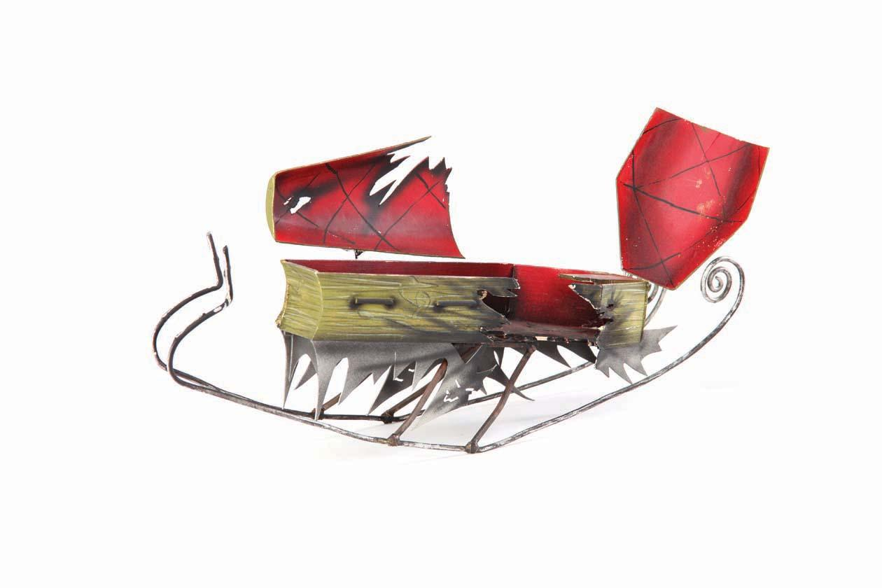 "Original ""Santa Jack"" screen-used miniature sleigh and trash can ..."