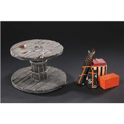 Miniature table and presents from Jack Skellington's sleigh from The Nightmare Before Christmas