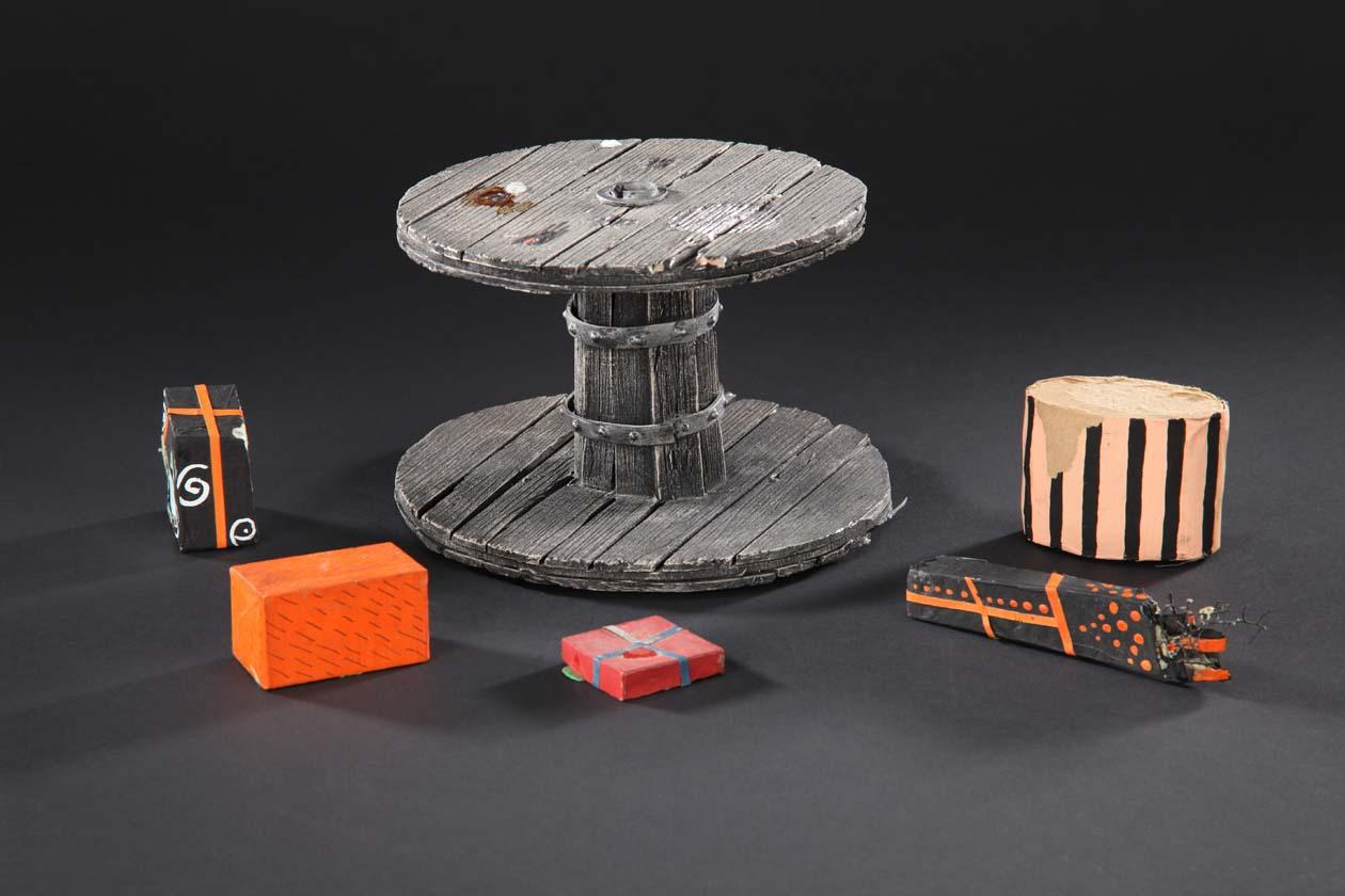 Miniature table and presents from Jack Skellington\'s sleigh from The ...