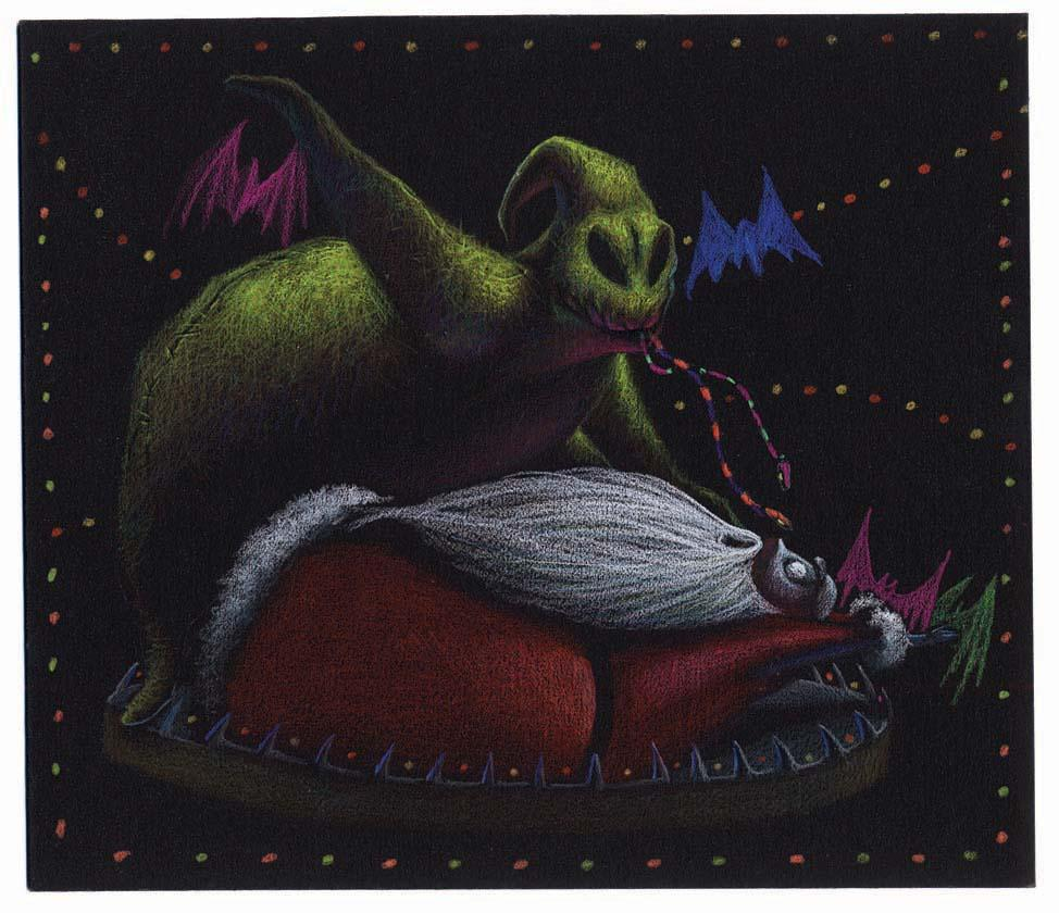 Oogie Boogie Art Oogie Boogie And Santa Claus