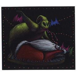 Oogie Boogie and Santa Claus concept artwork from The Nightmare Before Christmas