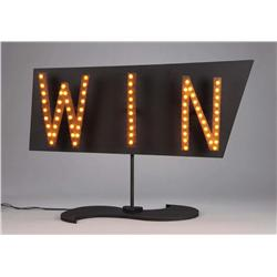 """WIN"" illuminating casino sign from The Nightmare Before Christmas"