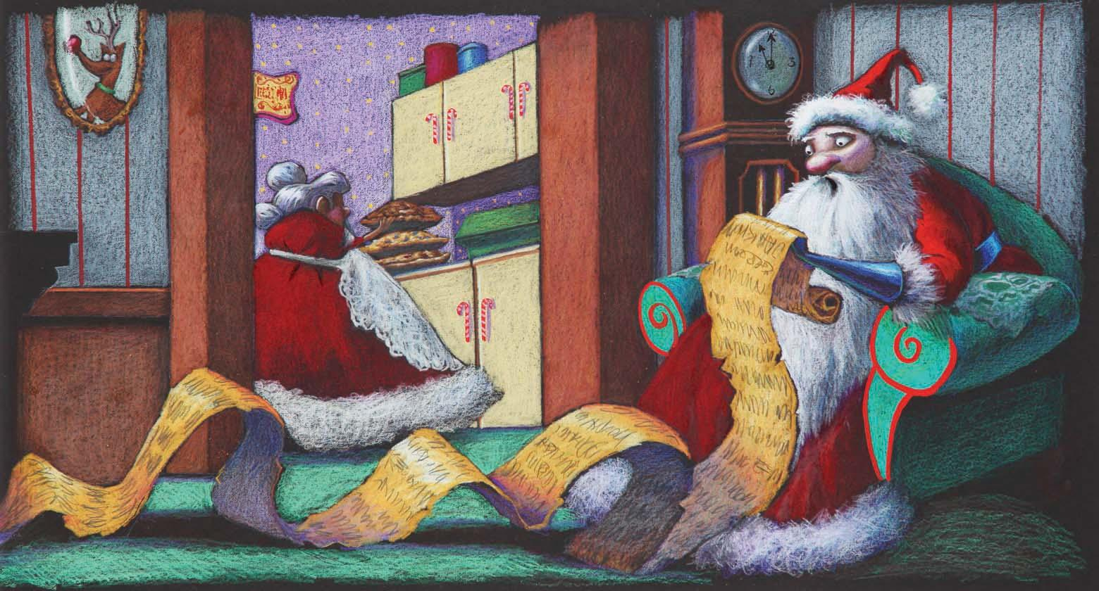 Original concept artwork for Santa from The Nightmare Before Christmas