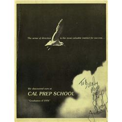 Original Cal Prep School 1976 yearbook signed by Michael Jackson
