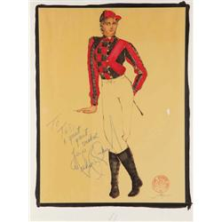 Ted Shell costume sketch for Michael Jackson Victory Tour
