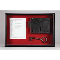 Houdini actual prison cell lock and key from Newgate Prison, London, from which he escaped