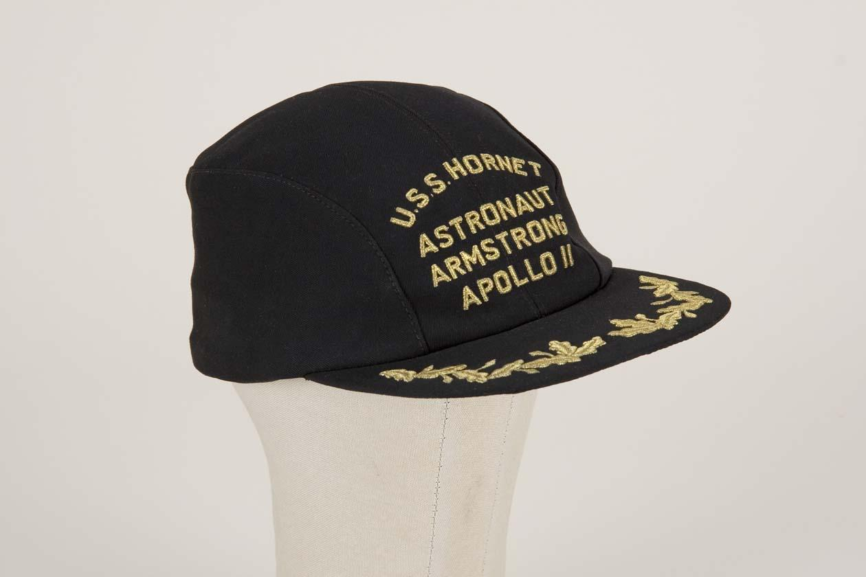 Neil Armstrong baseball cap worn after splash-down and ...