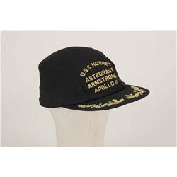 Neil Armstrong baseball cap worn after splash-down and recovery from Apollo 11 mission to the moon